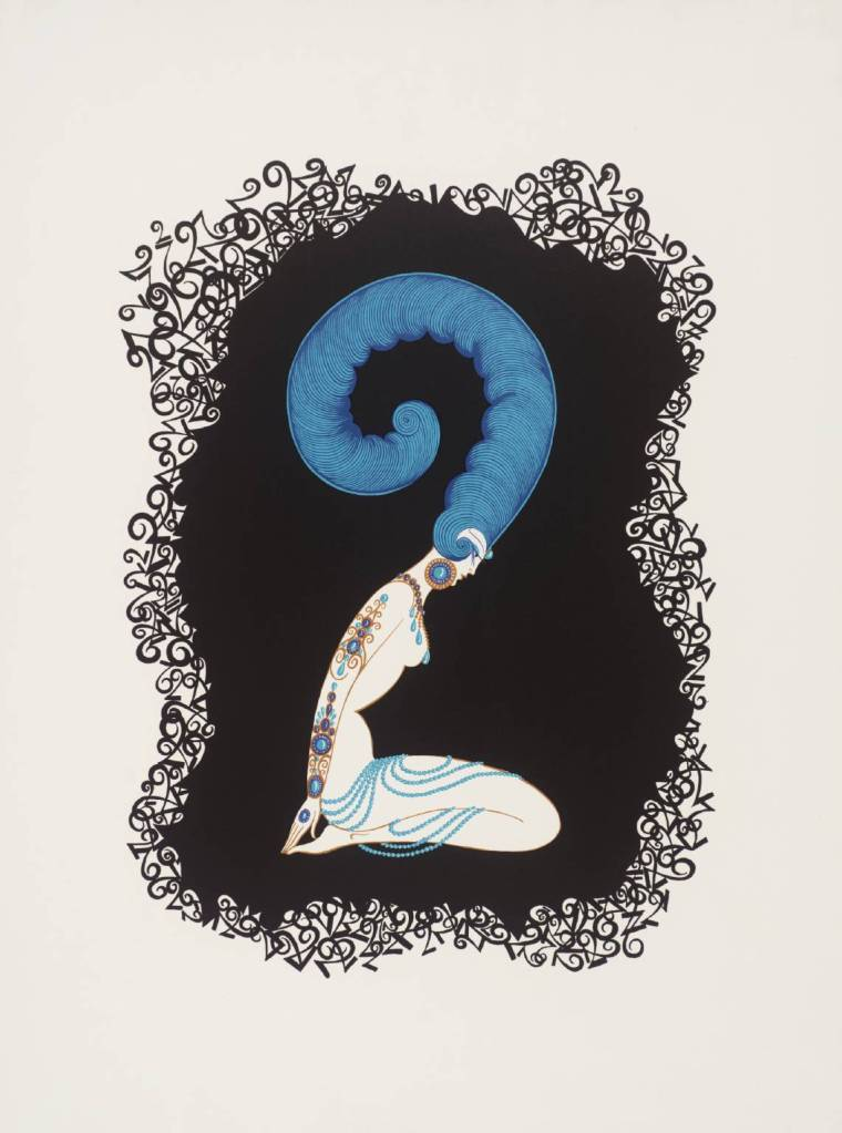 Number Two 1968 by Erté (Romain de Tirtoff) 1892-1990