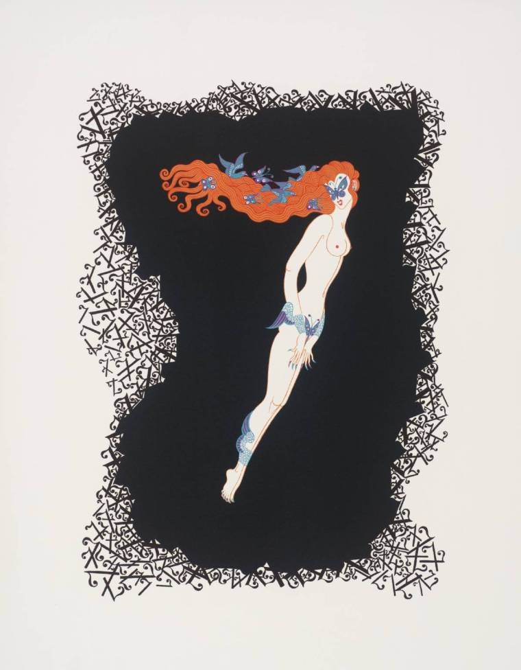 Number Seven 1968 by Erté (Romain de Tirtoff) 1892-1990