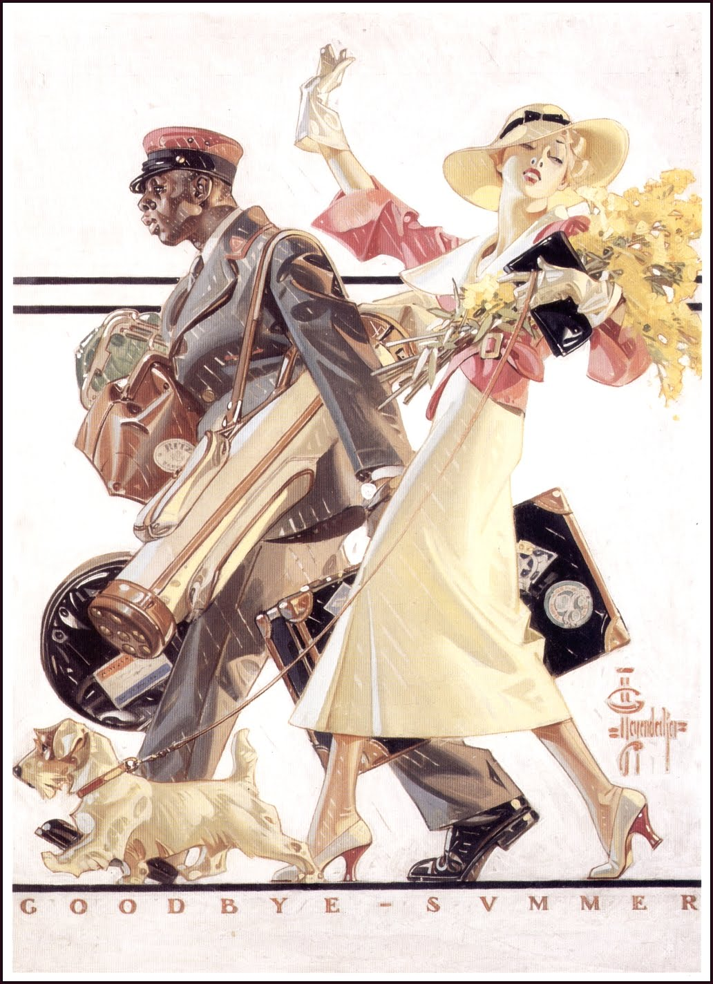 J.C. Leyendecker Saturday Evening Post Magazine Issue August 27 1927 SUMMER