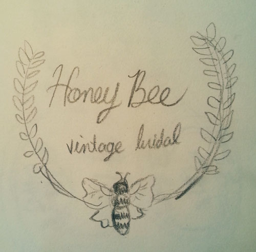 Wednesdoodles: Honey Bee Vintage Bridal Logo